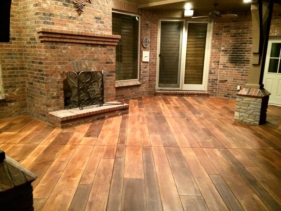 Rustic Concrete Wood Decorative Staining