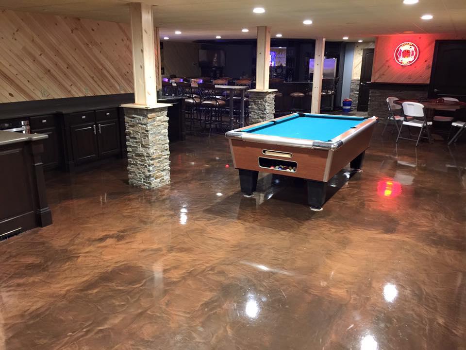 Metallic Marble Epoxy Flooring | Bozeman, Montana