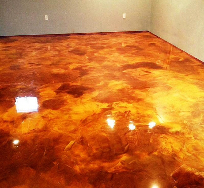 Metallic Marble Epoxy Flooring | Gardiner, Montana